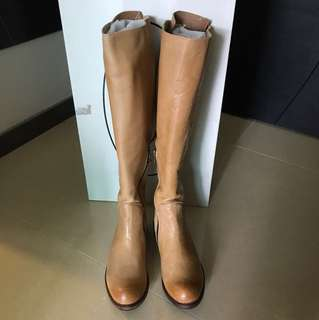 Steve Madden Leather Boots 駝色軟皮長靴 Camel Leat