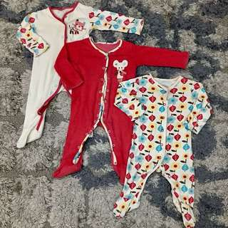 Pre❤️ : Mothercare Sleepsuit 3 pcs set size 3 - 6 months up to 8 kg