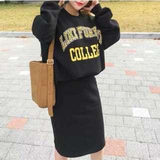 💲1180 韓國刷毛英字套裝