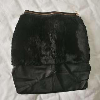 Jonathan Liang Lambskin Skirt