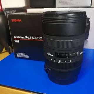 99%新 Sigma 8-16 f/4.5-5.6 DC HSM (Canon mount)