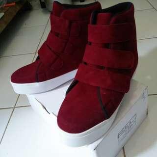 (NEW) boots korea maroon
