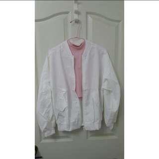 白色飛行外套 (免費)
