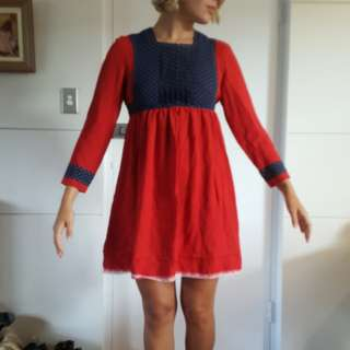 Sweet handmade vintage mini dress