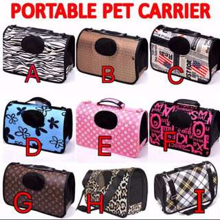 TPE006 Pet Carrier Bag for Small Animals (Cat, Dog, Bird)