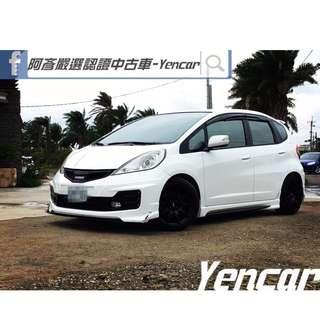 FB搜尋【阿彥嚴選認證車-Yencar】'12年 FIT 白 頂級款 RS前後包 改輪圈 全額貸 免頭款、中古車、二手車