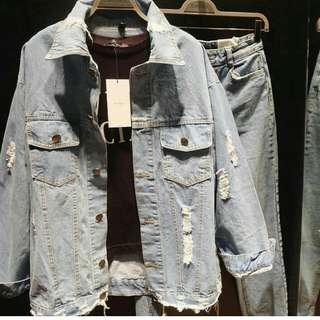 Destroy oversize jeans