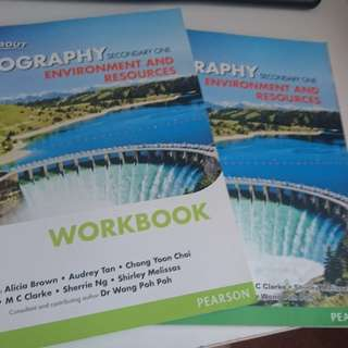 Lower secondary geography textbook and workbook