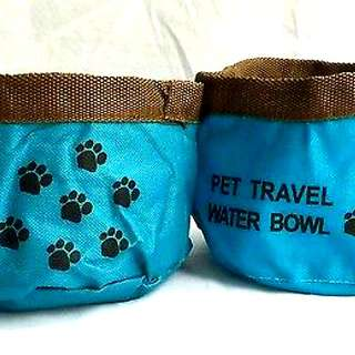 (2) NEW Pet Travel Collapsible Folding Water Food Bowls for Only $5.00