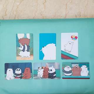 BN High Quality Matte We Bare Bears Concession/ Ezlink Card Sticker #1212YES