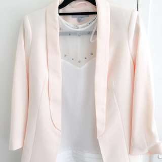 H&M Jacket And American eagle Blouse