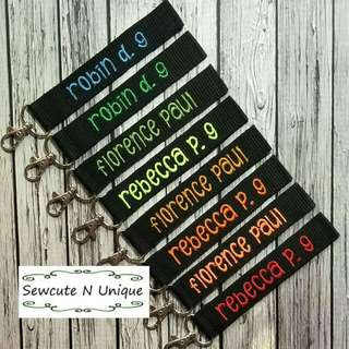 Embroidered tags / iron on nametags / labels