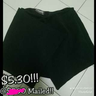 Clearance sale @$5.30Mailed!! Black Skorts