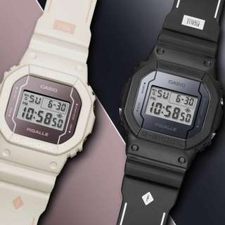 Pigalle x G-Shock DW-5600 Limited Watch White and Black (2 Pack)