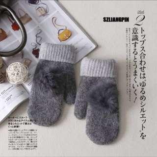 🚚 韓流氣質款羊毛保暖手套
