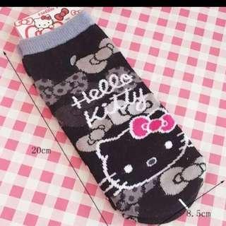 🚚 Kitty黑色短襪