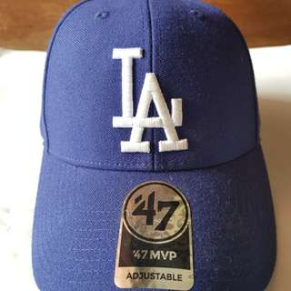 Topi Dodgers MVP 09 Curved LA Adjustable Biru