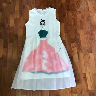 White Dress With Print