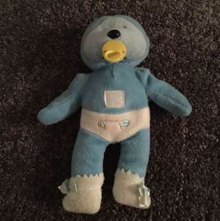 Blue baby beanie kid