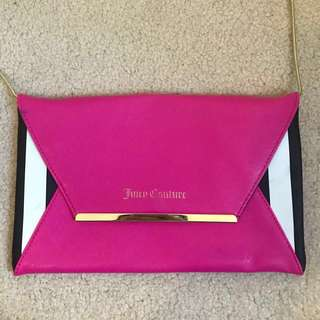 [AS NEW] Juicy Couture Pink Cross Body purse with gold chain