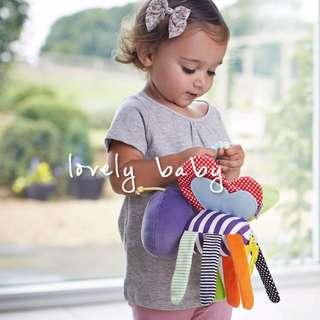 Lovelybaby✨ 小蜜蜂響鈴車掛床掛玩偶嬰兒早教益智布制玩具小嬰兒毛絨玩具 #LC-t17