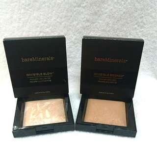 bareMinerals Invisible Glow/Bronze Powder Highighter/Bronzer 立體透亮光影粉/立體小顏輪廓粉 7g 原價$260