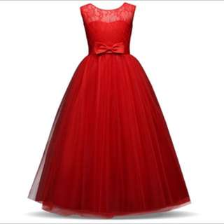 Christmas Party wedding Evening Gown Girl Set