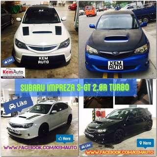 Sporty Car for rental at Kem Auto (Subaru Impreza SGT WRX, Honda Civic FD2 Integra DC5)