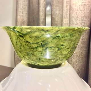 Qing Spinach-Green Jade Bowl