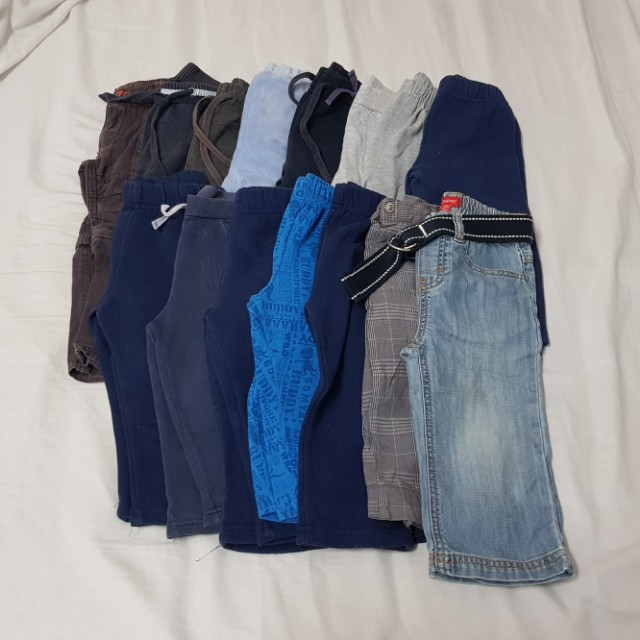15x bulk boys size 1 pants trackies jeans clothes