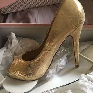 High Heels (gold Lizard)
