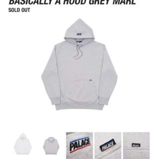 Basically grey marl hoodie ( palace )