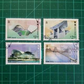 [贈品]1997 香港現代建設 舊票一套