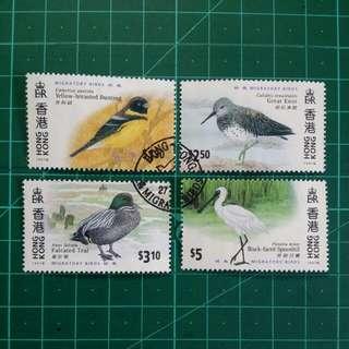 [贈品]1997 香港候鳥 舊票一套