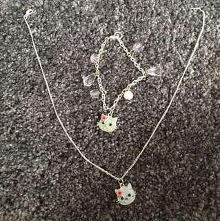 Girls Hello Kitty Jewellery Set