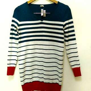 🔥降🔥海軍風條紋針織衫