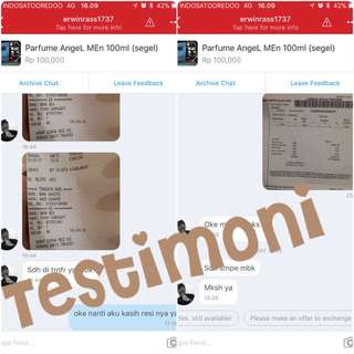 Testimoni Parfume AngeL Men