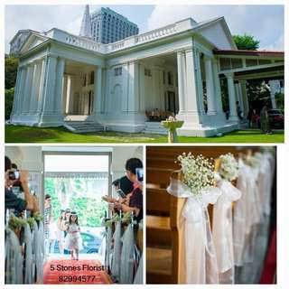 Church Wedding Package: Customizable ROM / Church Wedding / Hotel wedding Fresh Flowers Venue Decor / wedding table centerpiece