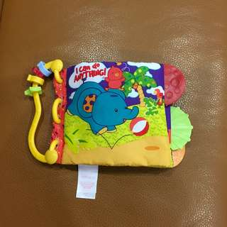 Carter's washable baby cloth book with teether