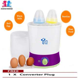MOMO House [4in1] Milk Bottle Steriliser - Heat, Warm, Sterilise & Boil Egg
