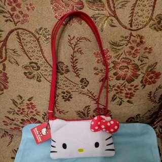 三麗鷗Hello Kitty造型絨毛手機觸控包 kitty側肩包 kitty斜背包kitty收納提包手機包 時尚美觀實用