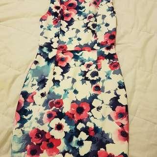 Floral Dress - Size 8