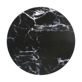Black Marble Look Corkback Placemat