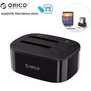 Orico - 2 Bay Usb3.0 Hard Drive Dock with standalone clone- 6228US3C