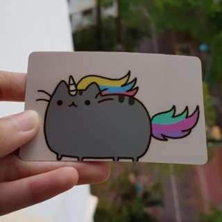 Pusheen card sticker