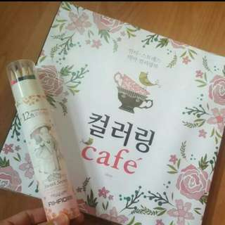 [Coloring Booklet] Secret Garden Series - CAFÉ