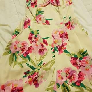 Bardot Floral Playsuit - Size 6