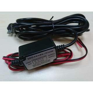 車CAM 降壓線DC5V/1A micro usb 插頭 3.5米