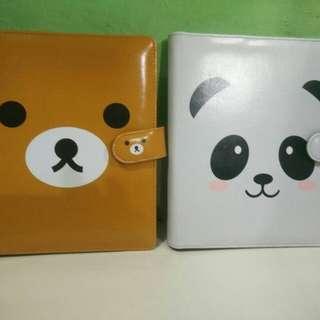 Binder printing doraemon panda hellokitty bear dokter