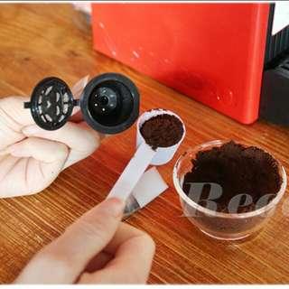 全新包郵 1盒3個 Nespresso 咖啡膠囊 重複使用 相容膠囊 充填膠囊杯
